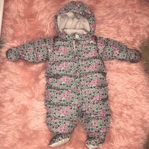 34cafa076 GAP One Pieces   Baby Floral Infant Snow Suit Bunting Nwt   Poshmark